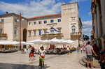 Zadar, la place du peuple.