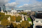 La Tour de Londres vue depuis le Tower Bridge.