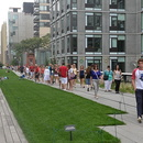 La High Line, parc urbain suspendu, Chelsea, Manhattan.