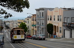 Le Cable Car de San Francisco dans Mason Street.